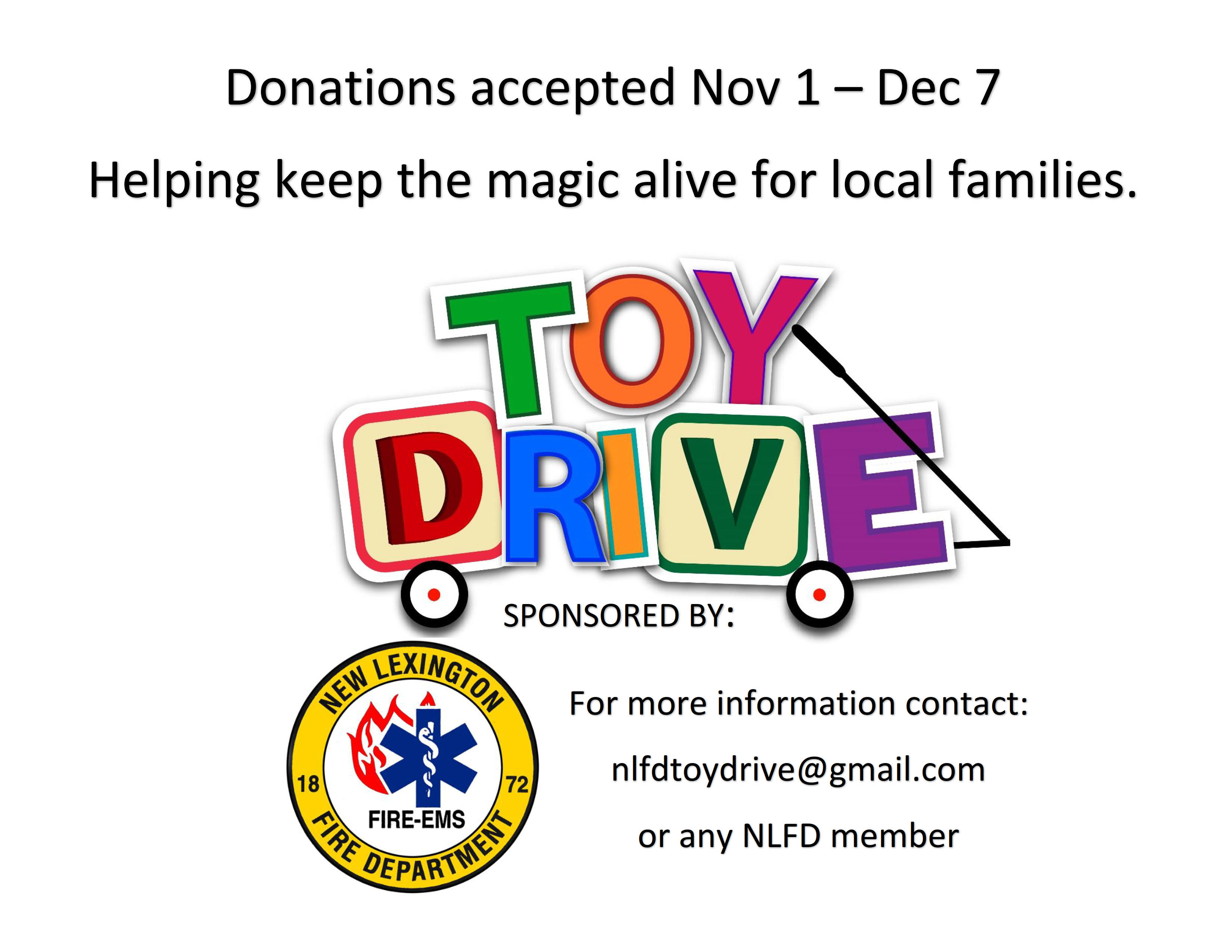 2018 New Lexington Fire Department Toy Drive — Perry County Ohio