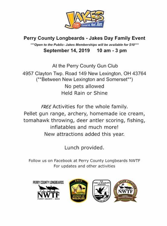 Jakes Day 2019 Family Outdoors Day — Perry County Ohio