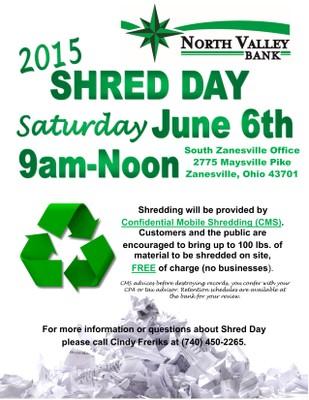 NVB Shred Day Flyer
